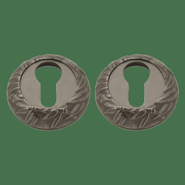 Дверная накладка модель ПАЛЬМА НК (Застаренное серебро)