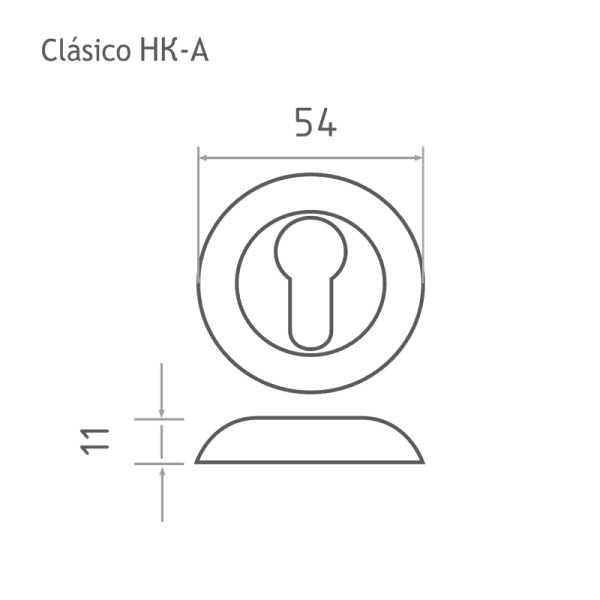 Накладка дверная модель НК-A Clásico (Матовое золото)
