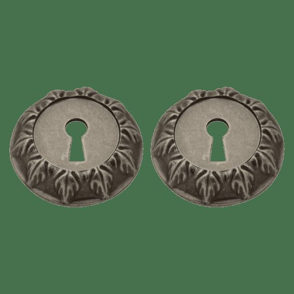 Дверная накладка модель ГРАСИОЗА НБ (Застаренное серебро)