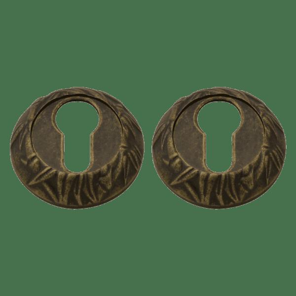Дверная накладка модель ПАЛЬМА НК (Застаренная бронза)