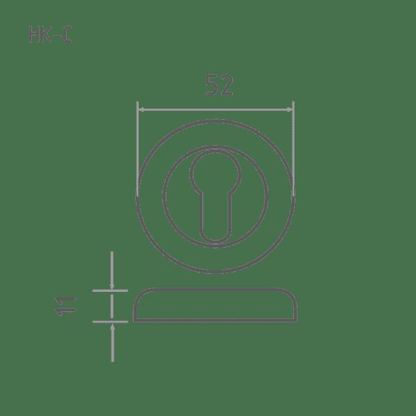 Накладка дверная модель НК-C (Матовое золото)