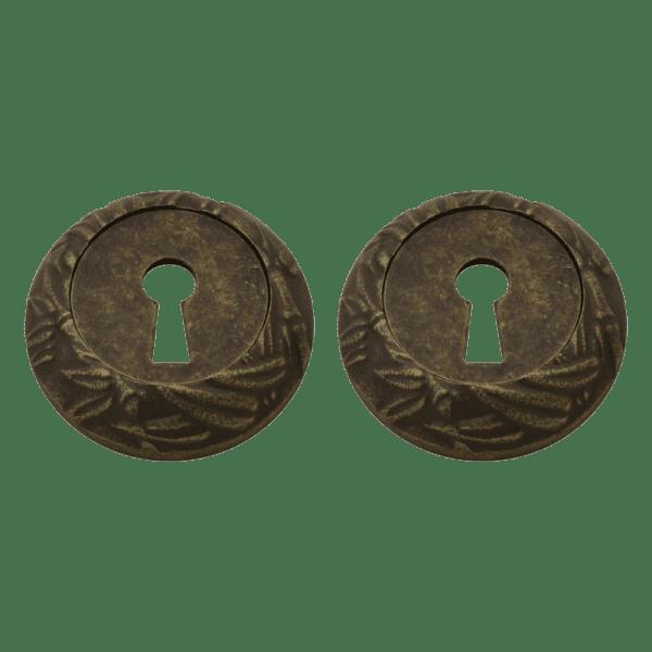 Дверная накладка модель ПАЛЬМА НБ (Застаренная бронза)