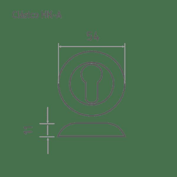 Накладка дверная модель НК-A Clásico (Хром)