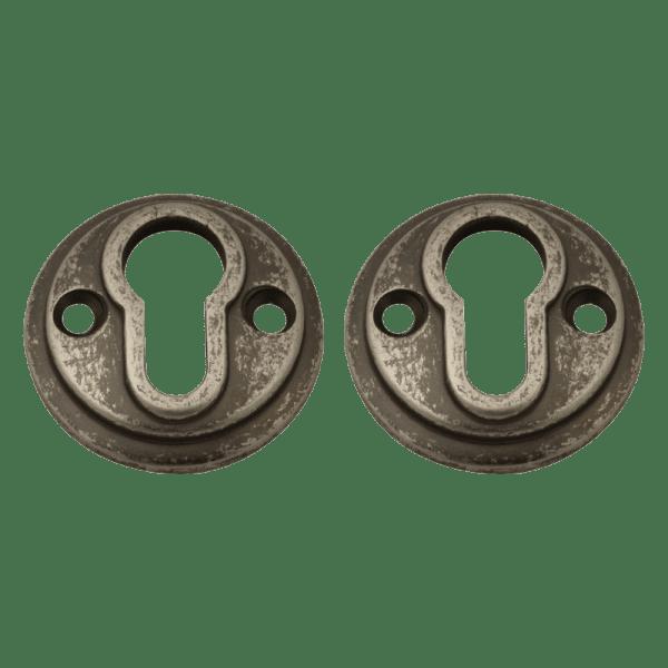 Дверная накладка модель НК (К) (Застаренное серебро)