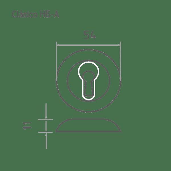 Накладка дверная модель НБ-А (Хром)