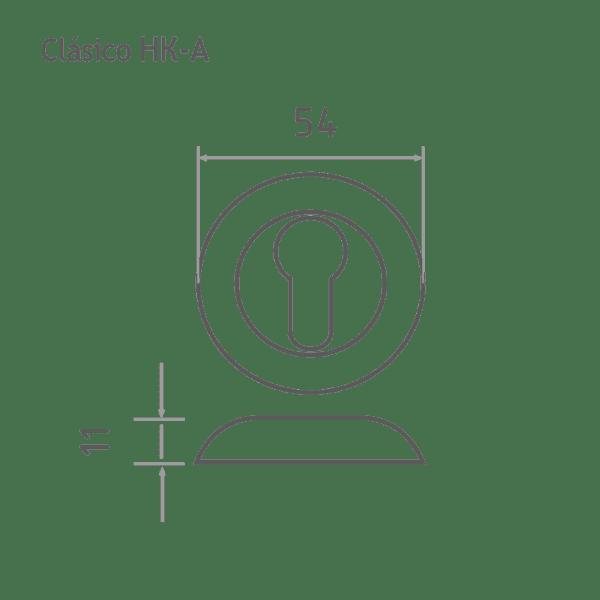 Накладка дверная модель НК-A Clásico (Матовый хром №2)