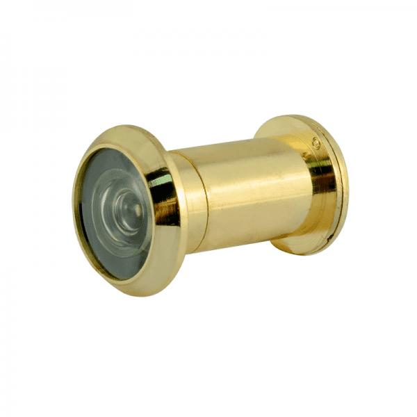 Дверной глазок со шторкой модель №12 /22/200/40-60 (Золото)