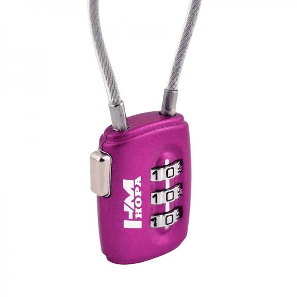 Навесной кодовый замок модель 506 (Фиолетовый)