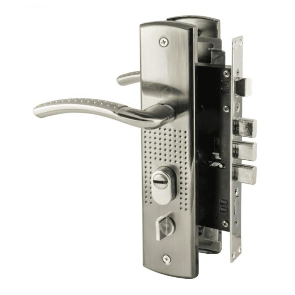 Замок врезной для китайских дверей модель 200(96)-68(правый) (Матовый никель)