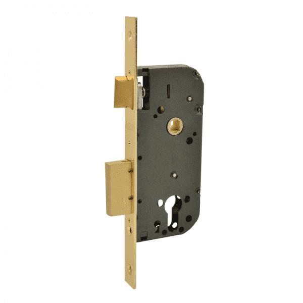 Корпус замка врезного модель КЗВ-100 (Полированая латунь)