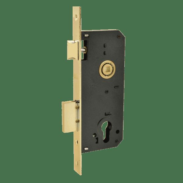 Корпус замка врезного модель КЗВ-102 (40мм) (Полированая латунь)