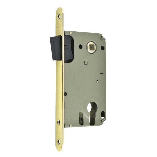 Корпус замка под цилиндр магнитный модель 25М-85 мм (Золото)