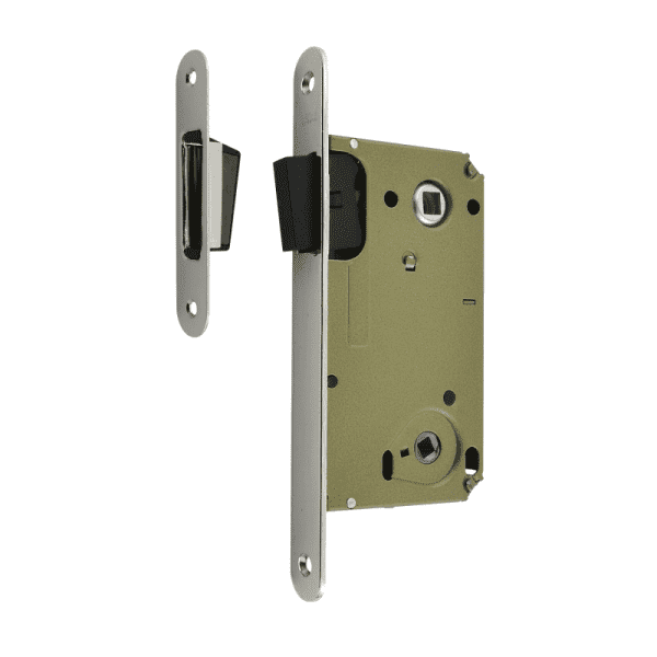 Корпус замка под фиксатор магнитный модель 13М-90 мм (Хром)