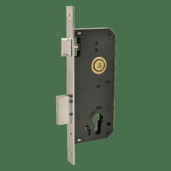 Корпус замка врезного модель КЗВ-102 (40мм) (Хром)