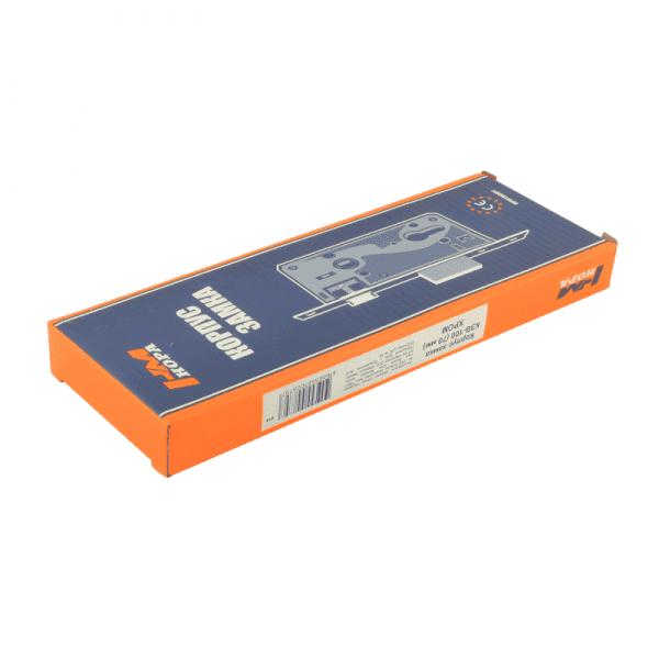 Корпус замка врезного модель КЗВ-100 (Хром)