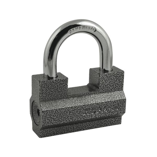 Замок навесной модель ЗН-401 (Серый) 80 мм