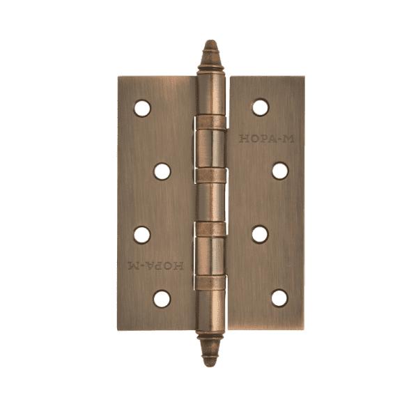 """Петля универсальная модель 4""""-4ВВ (100*75*2,5) с колп. (Медное покрытие)"""