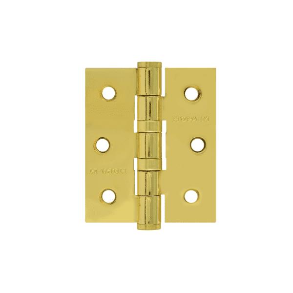 """Петля универсальная модель 3""""-2ВВ (75*63*2,5) без колп. (Латунное покрытие)"""