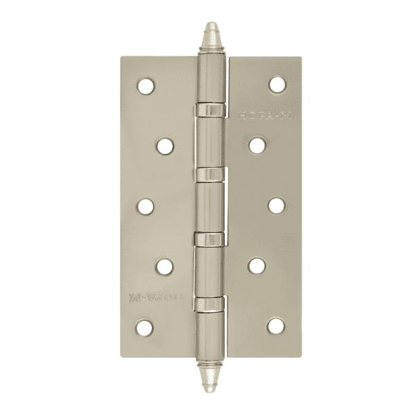 """Петля универсальная модель 5""""-4ВВ (125*75*2,5) с колп. (Матовое хромовое покрытие)"""