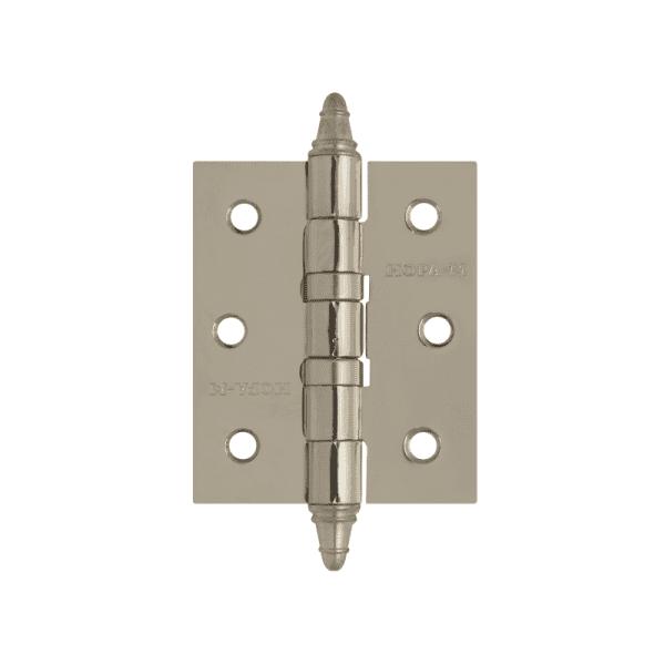 """Петля универсальная модель 3""""-2ВВ (75*63*2,5) с колп. (Матовое хромовое покрытие)"""
