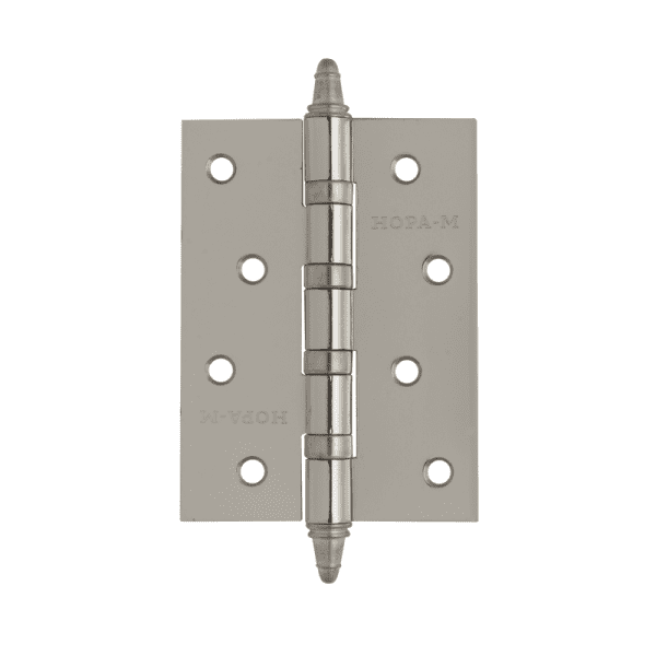 """Петля универсальная модель 4""""-4ВВ (100*75*2,5) с колп. (Хромовое покрытие)"""