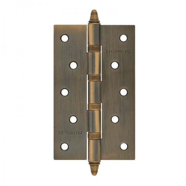 """Петля универсальная модель 5""""-4ВВ (125*75*2,5) с колп. (Матовое бронзовое покрытие)"""