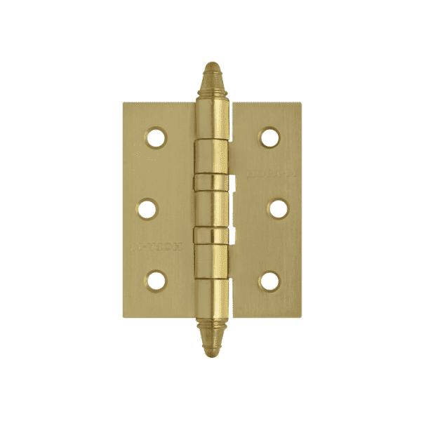 """Петля универсальная модель 3""""-2ВВ (75*63*2,5) с колп. (Матовое латунное покрытие)"""
