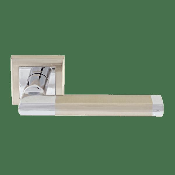 Ручка дверная модель ECO 108K Al (Матовый хром/хром)