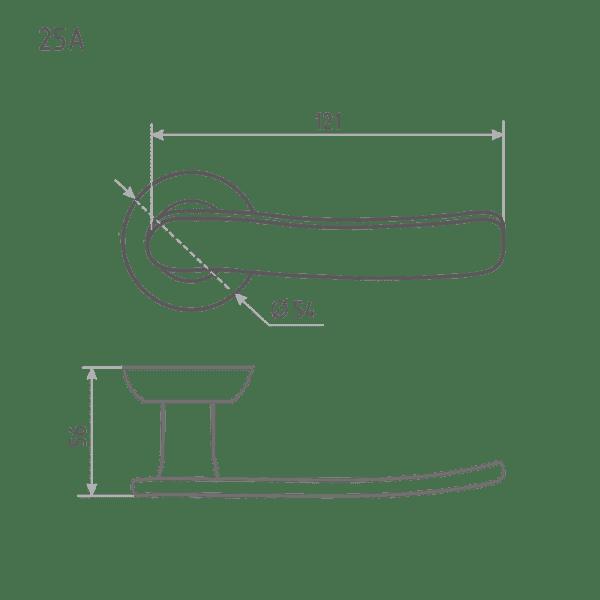 Ручка дверная модель 25 A (Старая бронза)