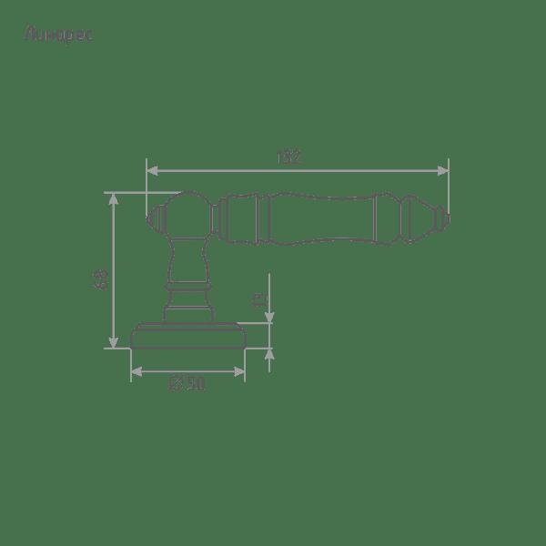 Ручка дверная модель Линарес (Застаренная бронза)