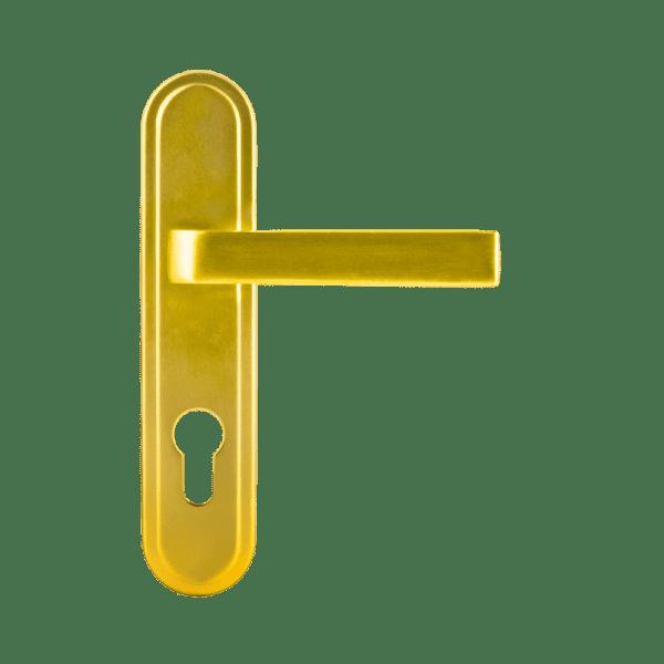 Ручка дверная на планке модель 108-62 мм (Золото)