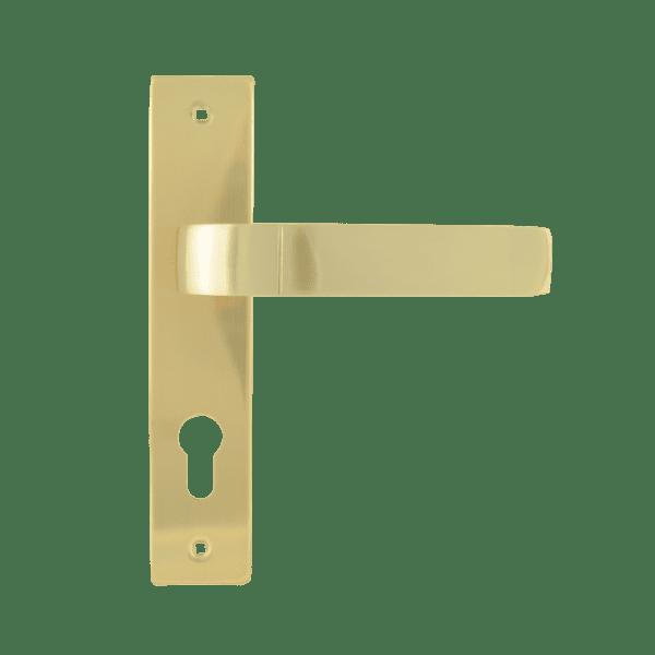 Ручка на планке модель 107-70 мм (Матовое золото)