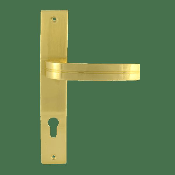 Ручка на планке модель 106-85 мм (Матовое золото)