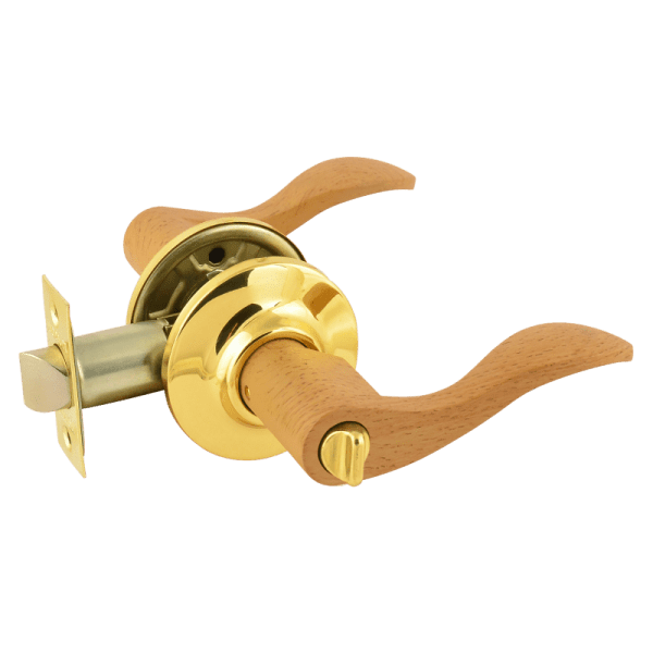 Ручка-защелка модель ЗВ1 (Дерево-бук/золото)