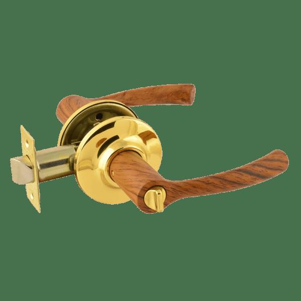 Ручка-защелка модель ТТ1 (Темное дерево/золото)