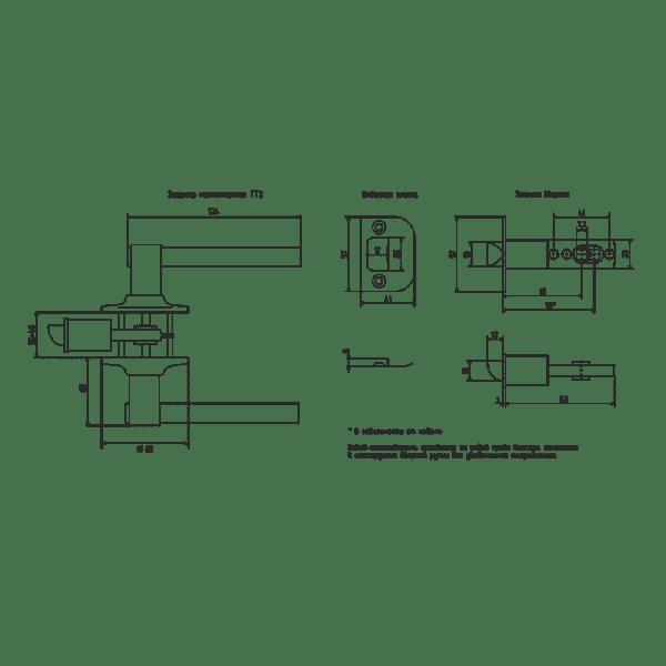Ручка-защелка модель ТТ2 (Золото)