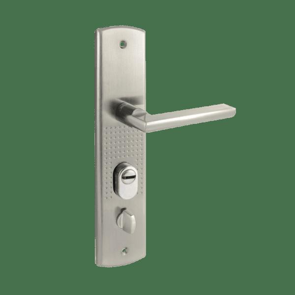 Ручка на планке для китайских дверей модель 200(108)-68 (левая) (Матовый никель)