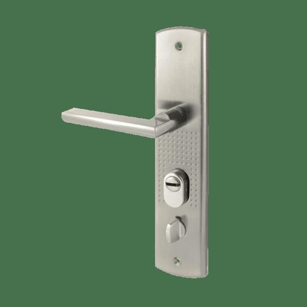 Ручка на планке для китайских дверей модель 200(108)-68 (правая) (Матовый никель)