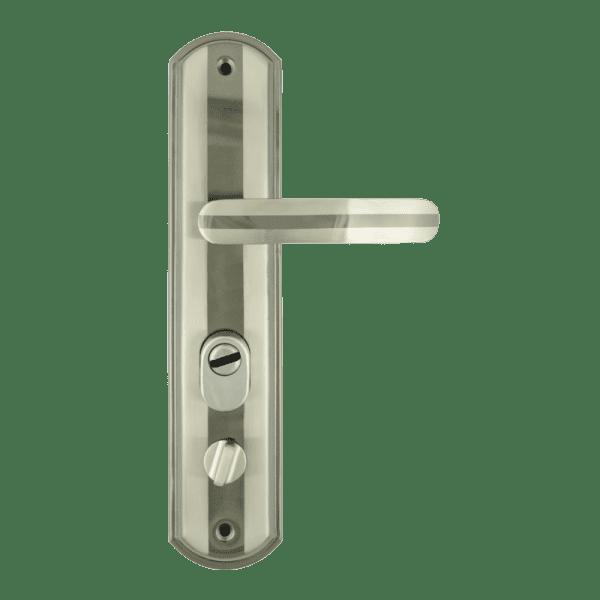 Ручка на планке для китайских дверей модель 200-68 ECO левая (Матовый никель)