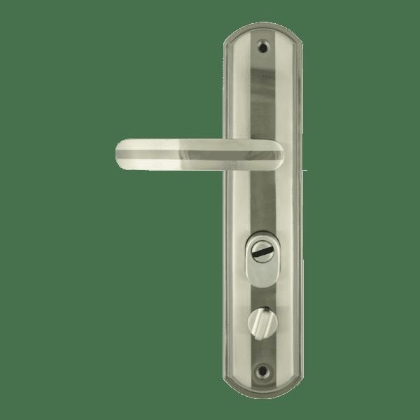 Ручка на планке для китайских дверей модель 200-68 ECO правая (Матовый никель)