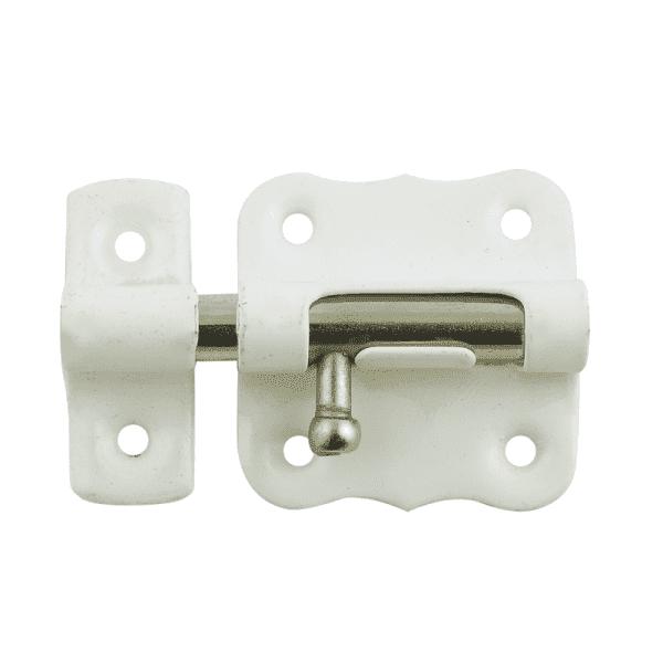 Шпингалет модель 384 (Белый/Никель)