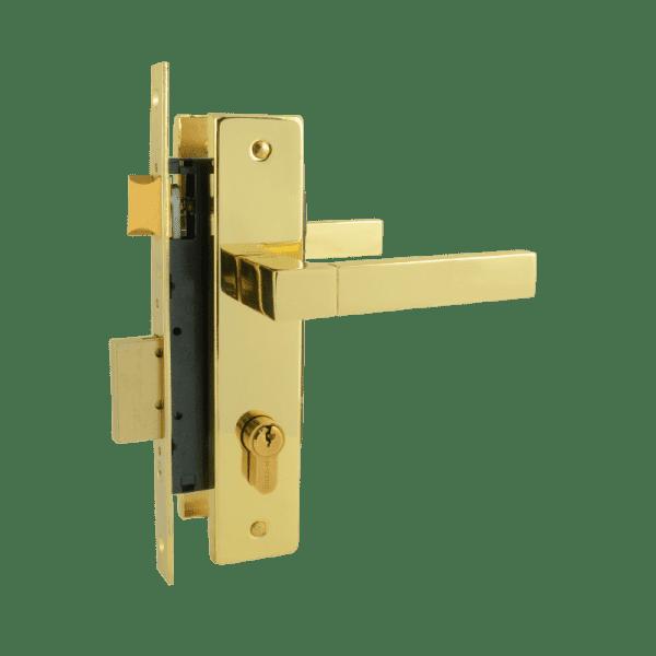 Замок врезной модель 109-70Л (Золото)